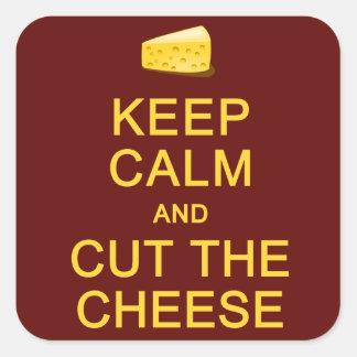 Keep Calm & Cut The Cheese stickers