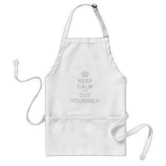 Keep Calm & Cut Yourself - Emo Rock Alternative Adult Apron