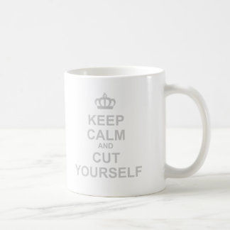 Keep Calm & Cut Yourself - Emo Rock Alternative Coffee Mug