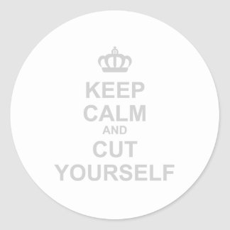 Keep Calm Cut Yourself - Emo Rock Alternative Sticker