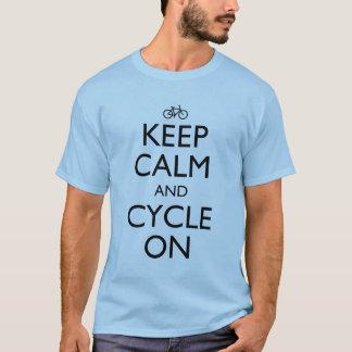 Keep Calm Cycling T Shirt