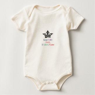Keep Calm Dad Baby Bodysuits