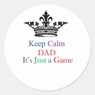 Keep Calm Dad Classic Round Sticker