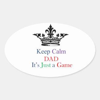 Keep Calm Dad Oval Sticker