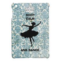 Keep Calm & Dance Vintage Blue mini iPad case