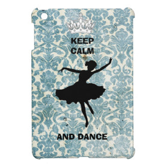 Keep Calm & Dance Vintage Blue mini iPad case