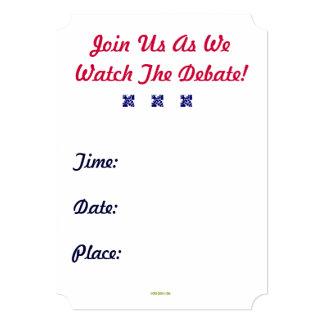 KEEP CALM Debate Party Custom Invitation