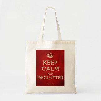 Keep Calm & Declutter bag