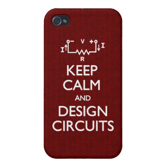Keep Calm Design Circuits Case For iPhone 4
