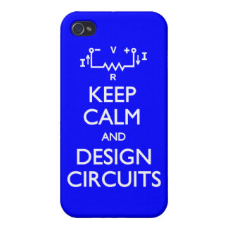 Keep Calm Design Circuits iPhone 4/4S Cases