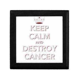 Keep Calm & Destroy Cancer 2 Jewelry Box