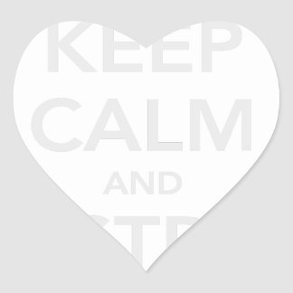 Keep Calm & Destroy Cancer Heart Sticker