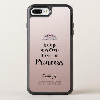 Keep Calm Diamonds Tiara Otterbox Monogram OtterBox Symmetry iPhone 8 Plus/7 Plus Case