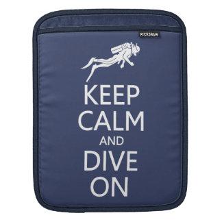 Keep Calm & Dive On custom color iPad sleeve