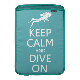 Keep Calm & Dive On custom color MacBook sleeve