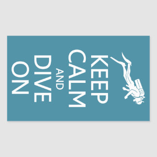 Keep Calm & Dive On custom color stickers
