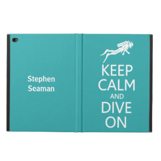 Keep Calm & Dive On custom name & color cases