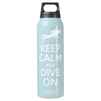 Keep Calm & Dive On Insulated Water Bottle