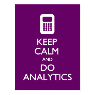 Keep Calm Do Analytics postcard