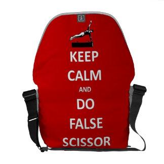 Keep calm do false scissor courier bag