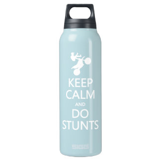 Keep Calm & Do Stunts - choose color Insulated Water Bottle