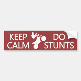 Keep Calm & Do Stunts custom color bumpersticker Bumper Sticker