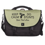Keep Calm & Do Stunts custom color laptop bag
