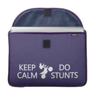Keep Calm & Do Stunts custom color Macbook sleeve