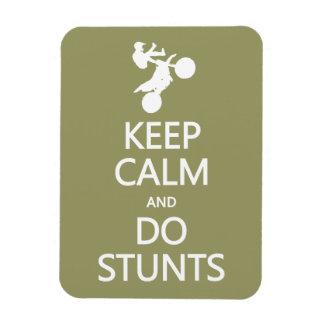 Keep Calm & Do Stunts custom color magnet