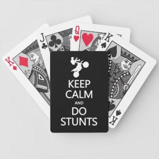 Keep Calm & Do Stunts custom color playing cards