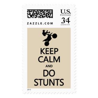 Keep Calm & Do Stunts custom color stamps