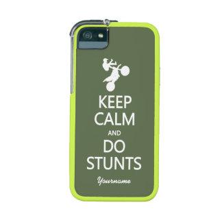 Keep Calm & Do Stunts custom iPhone cases