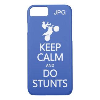 Keep Calm & Do Stunts custom monogram phone cases