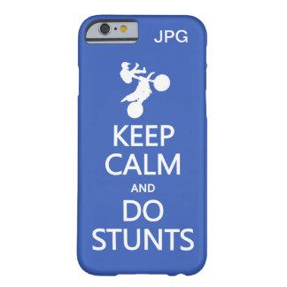 Keep Calm & Do Stunts custom monogram phone cases Barely There iPhone 6 Case