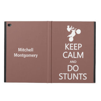 Keep Calm & Do Stunts custom name & color cases