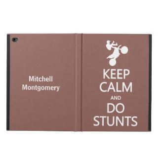 Keep Calm & Do Stunts custom name & color cases