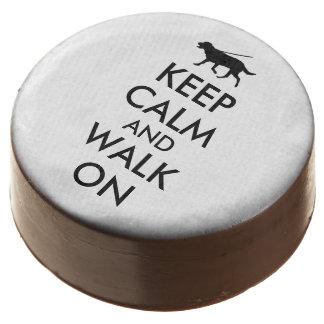 Keep Calm Dog Walking Dipped Oreo Cookies Custom