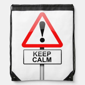 Keep calm. drawstring bag