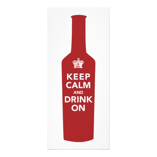 Keep Calm & Drink 30th Birthday Party Invitation (front side)