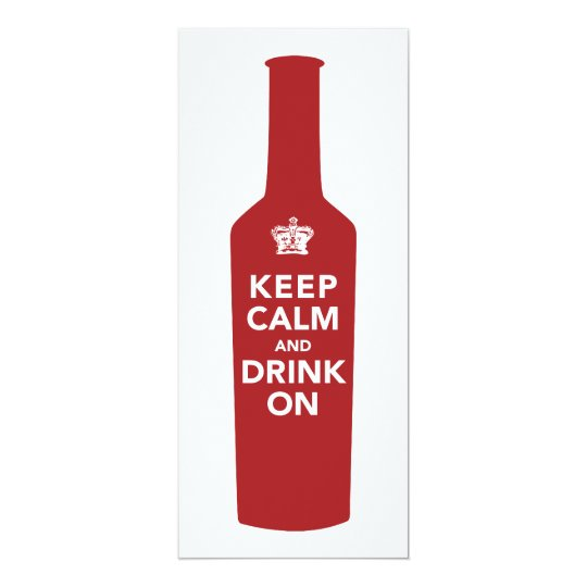 Keep Calm & Drink 30th Birthday Party Invitation