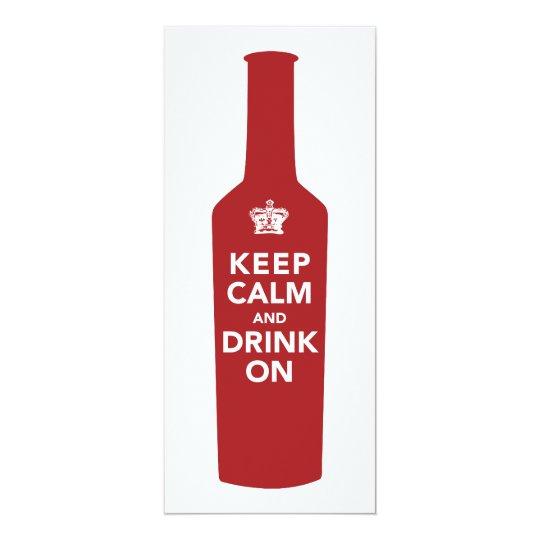 Keep Calm & Drink 50th Birthday Party Invitation