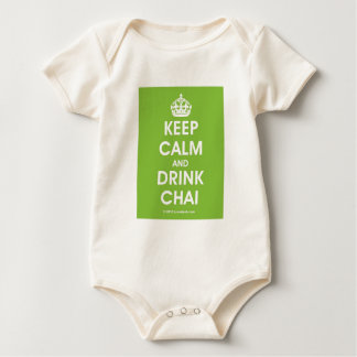 Keep Calm & Drink Chai by Lovedesh.com Baby Bodysuit