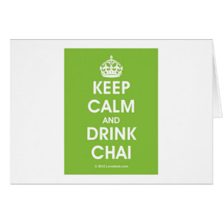 Keep Calm & Drink Chai by Lovedesh.com Card