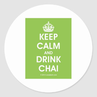 Keep Calm & Drink Chai by Lovedesh.com Classic Round Sticker