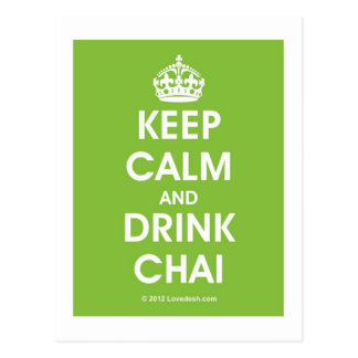 Keep Calm & Drink Chai by Lovedesh.com Postcard