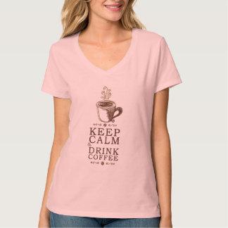 Keep Calm Drink Coffee Tee Shirt