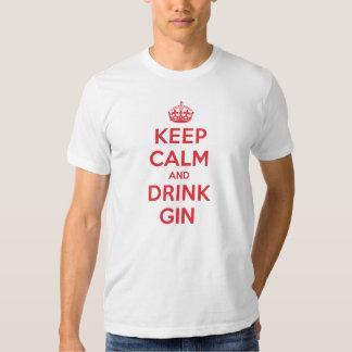 Keep Calm Drink Gin Tee Shirts