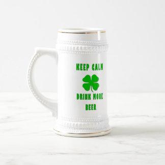 Keep Calm Drink More Beer Beer Stein