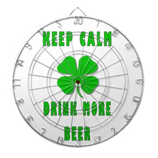 Keep Calm Drink More Beer Dartboards