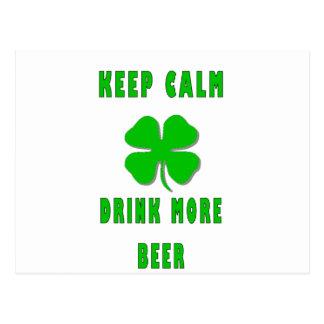 Keep Calm Drink More Beer Postcard